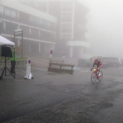 Thierry Marmottan en termine dans le froid et le brouillard !