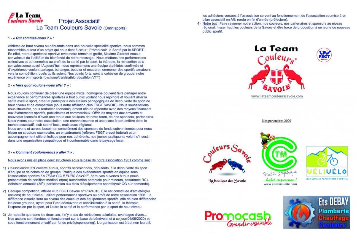 Projet associatif 2020 ltcs web